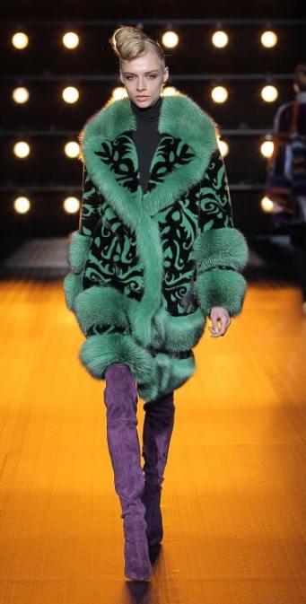 модные итальянские шубы Braschi в Милане зима 2018 2019