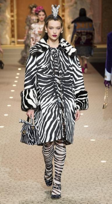 модные шубы Dolce&Gabbana зима 2019 тенденция леопард и животный принт