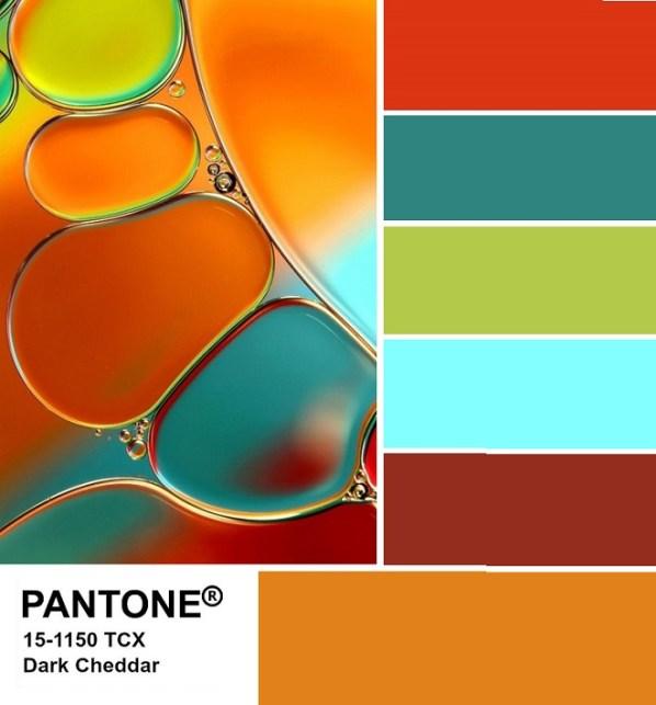 PANTONE 15-1150 Dark Cheddar palette