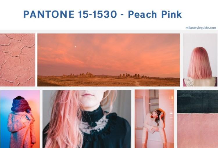 персековый осень 2019 PANTONE 15-1530 - Peach Pink модный цвет осень зима 2019/2010