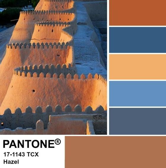 PANTONE 17-1143 Hazel Palette