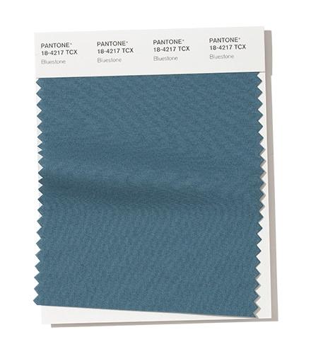 PANTONE 18-4217 Bluestone – Голубой каменьмодный цвет осень зима 2020