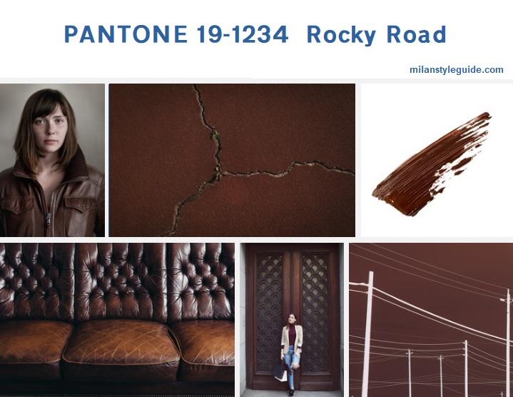 PANTONE 19-1234 Rocky Roadмодный цвет осень зима 2019/2010