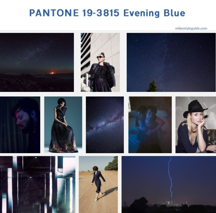 модный цвет осень зима 2019/2010 PANTONE 19-3815 Evening Blue