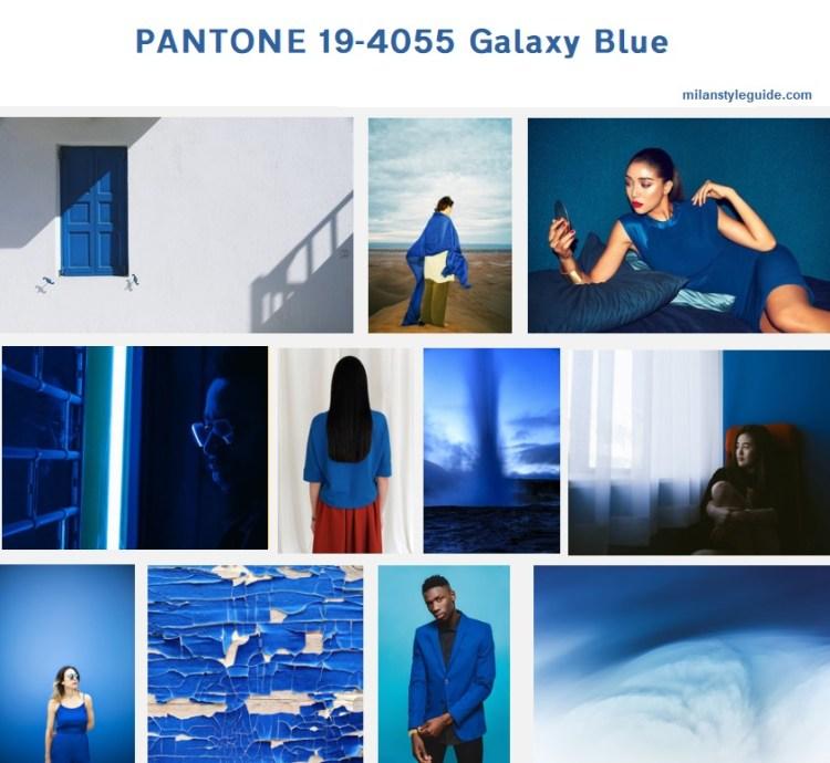 синий цвет осень 19/20 PANTONE 19-4055 Galaxy Blue модный цвет осень зима 2019/2010