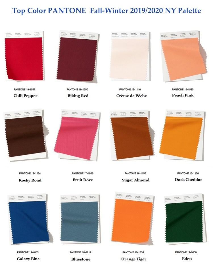 Pantone top fashion color Fall winter 2019 2020