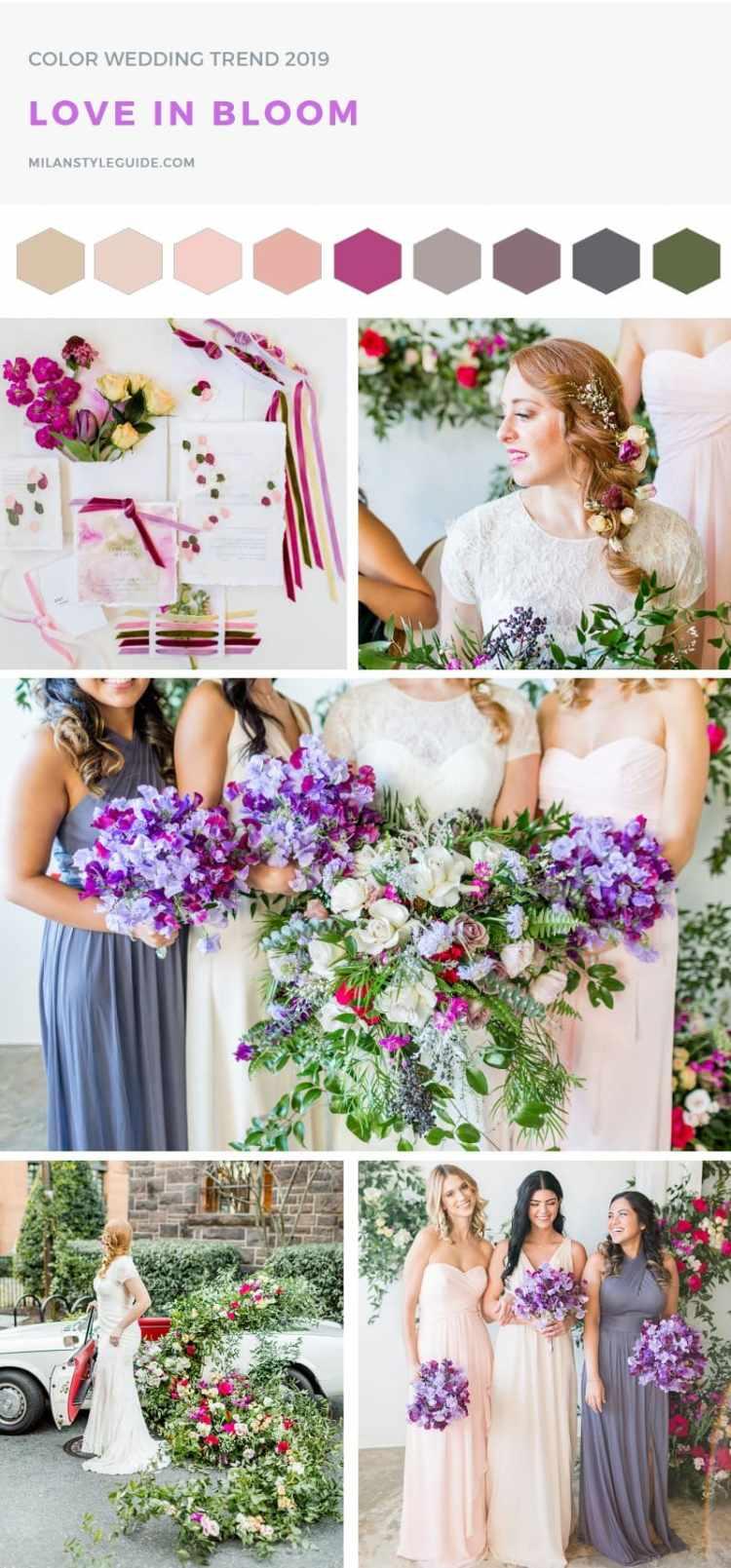модная свадебная палитра пантон 2019
