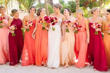wedding color trend 2019 Pantone Living Coral
