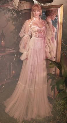 модные свадебные тенденции 2020 - свадебное платье с пышными рукавом Gala by Galia Lahav 2020