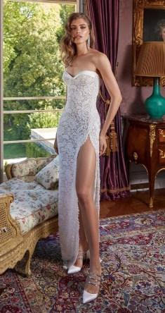 модное свадебное платье Galia Lahav 2020 с разрезом на юбке