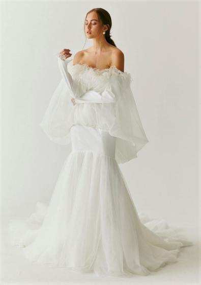 модные свадебные тенденции 2020 - свадебное платье с пышными рукавам