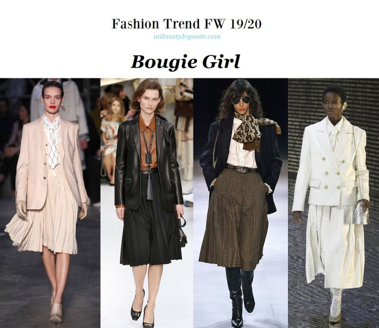 Fashion trend fall winter 2019-2020 Bougie Girl