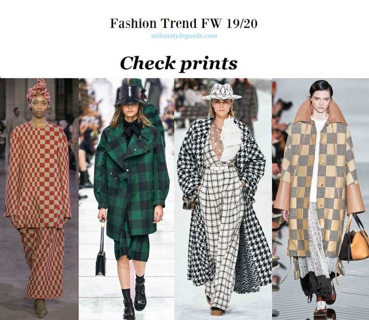 Fashion trend fall winter 2019-2020 Check prints