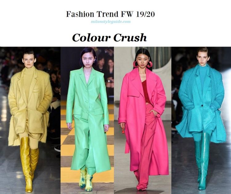 Fashion trend fall winter 2019-2020 Colour Crush модный тренд осень зима 2019 2020 яркий цвет