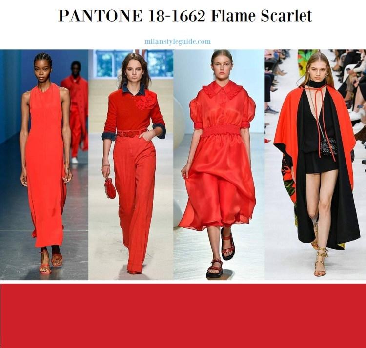 Pantone 18-1662 Flame Scarlet
