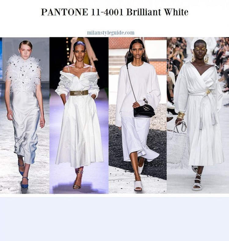 модные цвета весна лето 2020 Color trend SS 2020 PANTONE 11-4001 TCX Brilliant White
