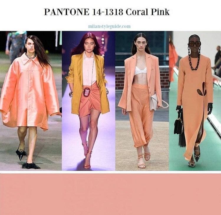 модные цвета весна лето 2020 PANTONE 14-1318 Coral Pink