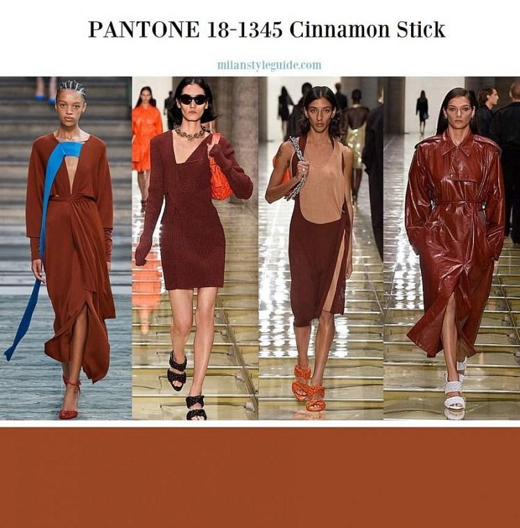 модные цвета весна лето 2020 18-1345 Cinnamon Stick