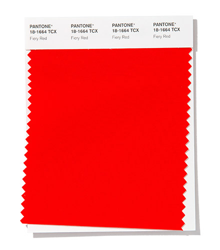PANTONE 18-1664 Fiery Red
