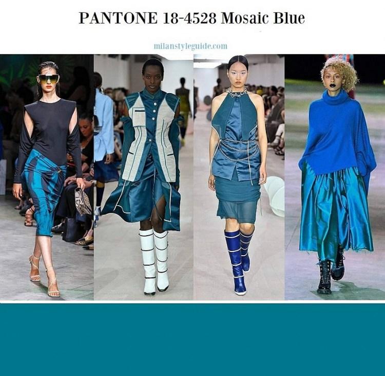 модные цвета весна лето 2020 PANTONE 18-4528 Mosaic Blue