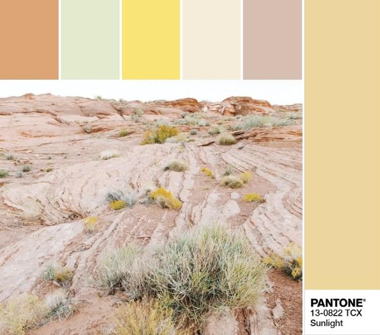 модные цвета весны и лета 2020 Pantone 13-0822 Sunlight