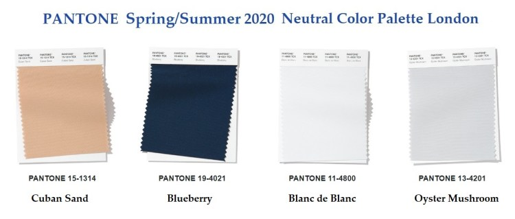 Pantone Fashion Color Trend Report London Spring Summer 2020 neutral palette