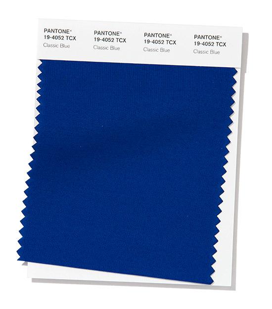 Pantone Fashion Color Trend Цвет года 2020 Classic Blue
