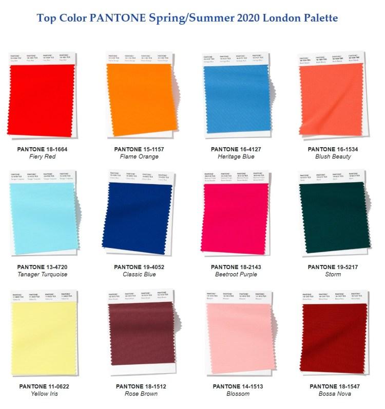 модные цвета весна лето 2020 Fashion color Spring Summer 2020 London