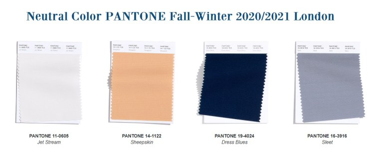 classic color fall winter 2020 2021 Pantone London