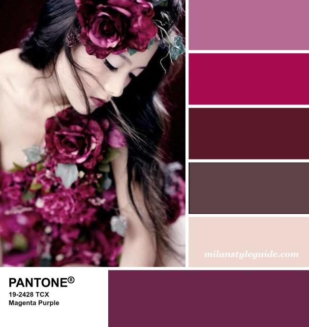 PANTONE 19-2428 Magenta Purple - Пурпурная фуксия
