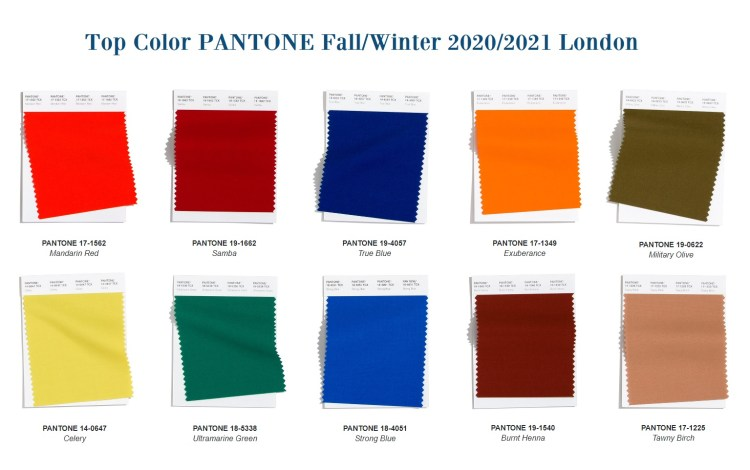 top fashion color fall winter 2020 202