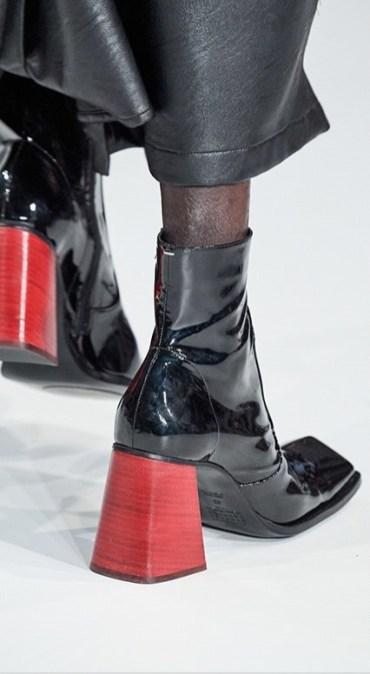 модная обувь весна осень зима 2020 квадратный нос