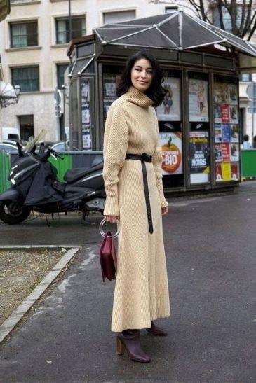 модные тенденции Зима 2021 - модные вязаные платья