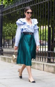 юбка плиссе с чем модно носить