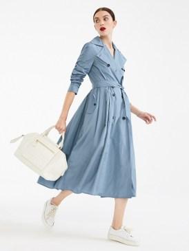 модное платье тренч на работу 2020 год