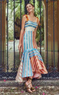 модное платье в полоску лето 2020