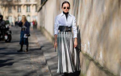 плиссированная юбка как с чем модно носить юбку плиссе 2020