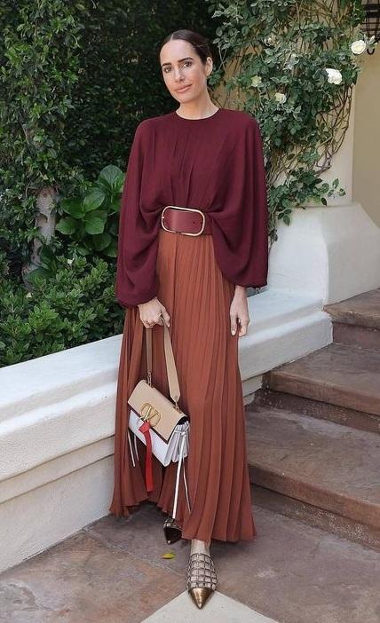 как с чем носить длинную юбку плиссе 2020