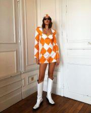 модный оранжевый цвет весна лето 2021 как носить