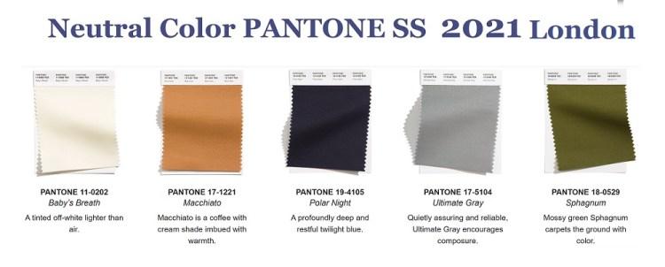 модные классические цвета Пантон весна лето 2021