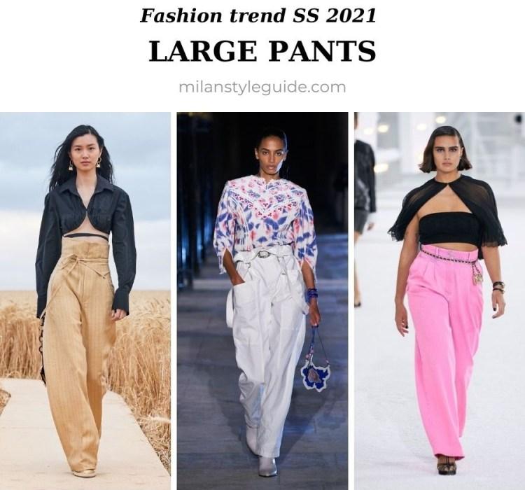 модный тренд весна лето 2021 широкие брюки
