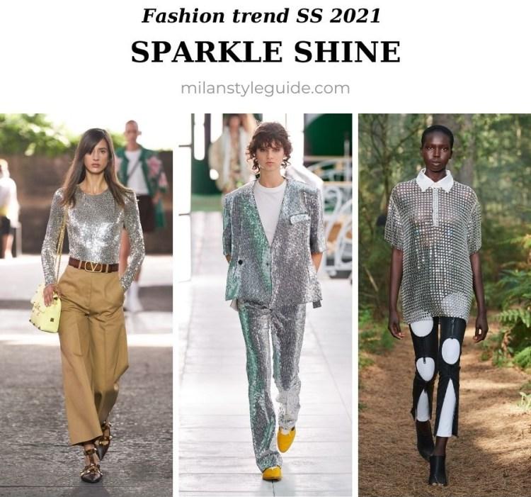 модный тренд весна лето 2021 блески