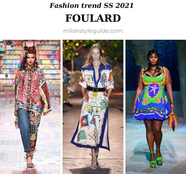 модный тренд весна лето 2021 платочный принт