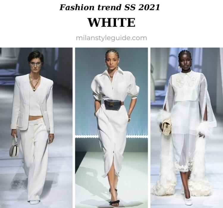 модный тренд весна лето 2021 белый цвет