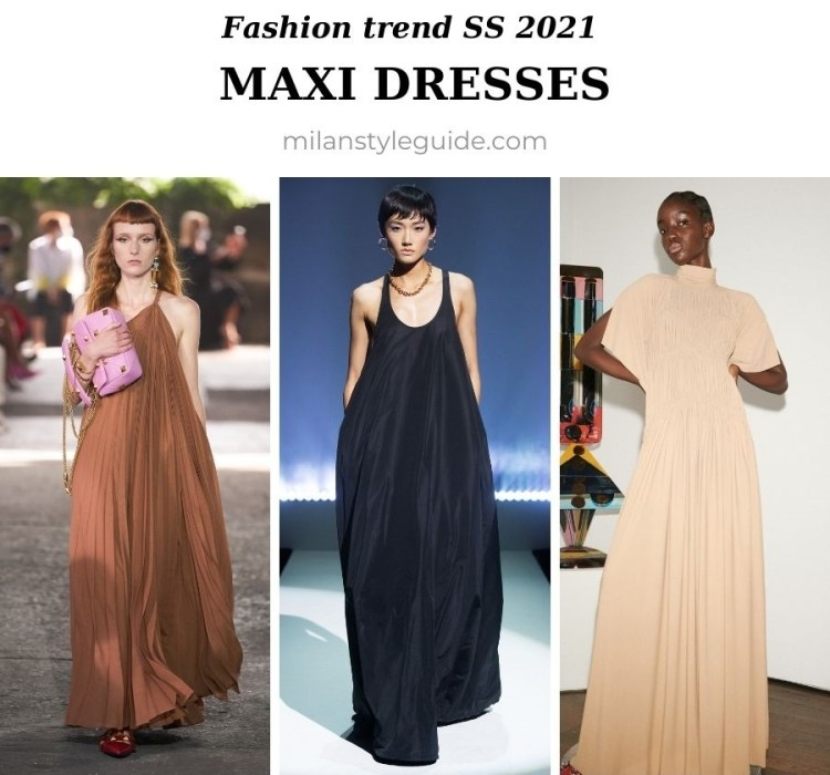 модный тренд весна лето 2021 макси платье