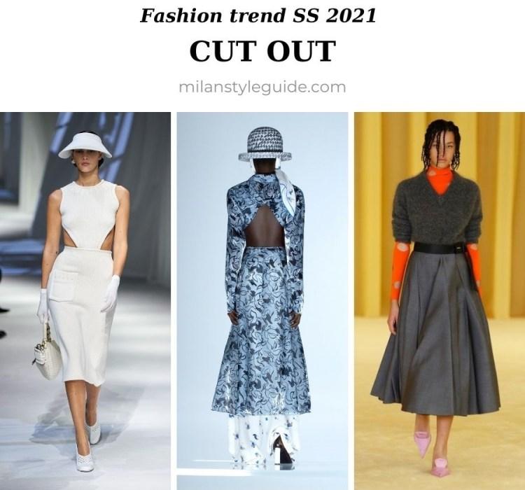 модный тренд весна лето 2021 вырезы