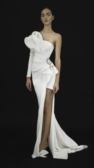свадебные платья с разрезом модный тренд 2021