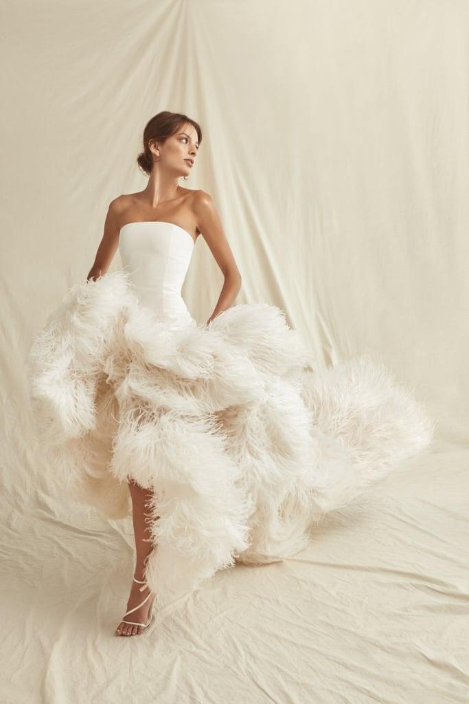 свадебные платья с укороченой юбкой модный тренд 2021