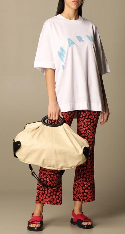 Модные сумки 2021 года тренд Balloon Bag Marni
