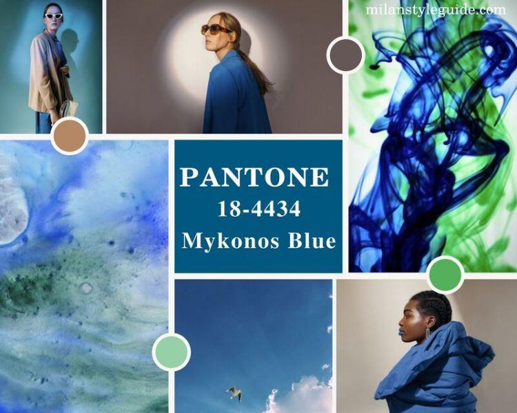 модный синий цвет осень зима 2021-2022